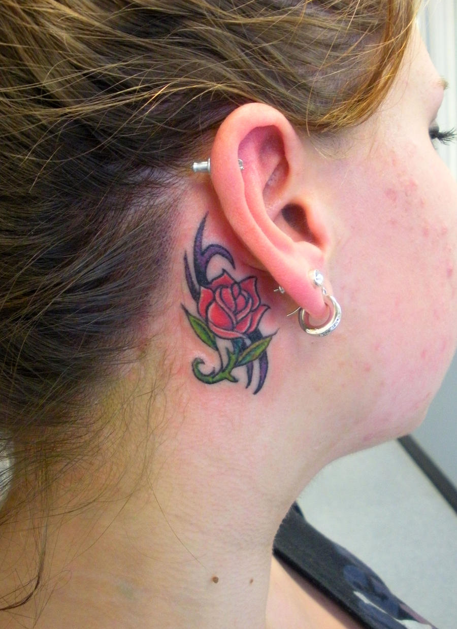 Rose Behind Ear