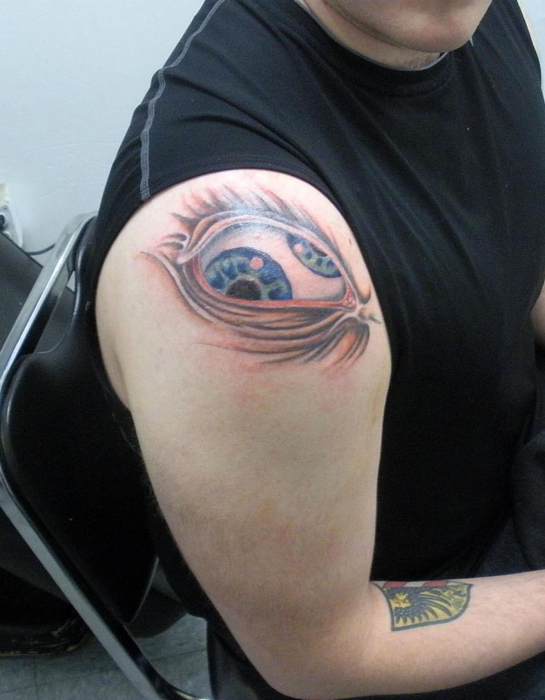 Tool Eye - shoulder tattoo
