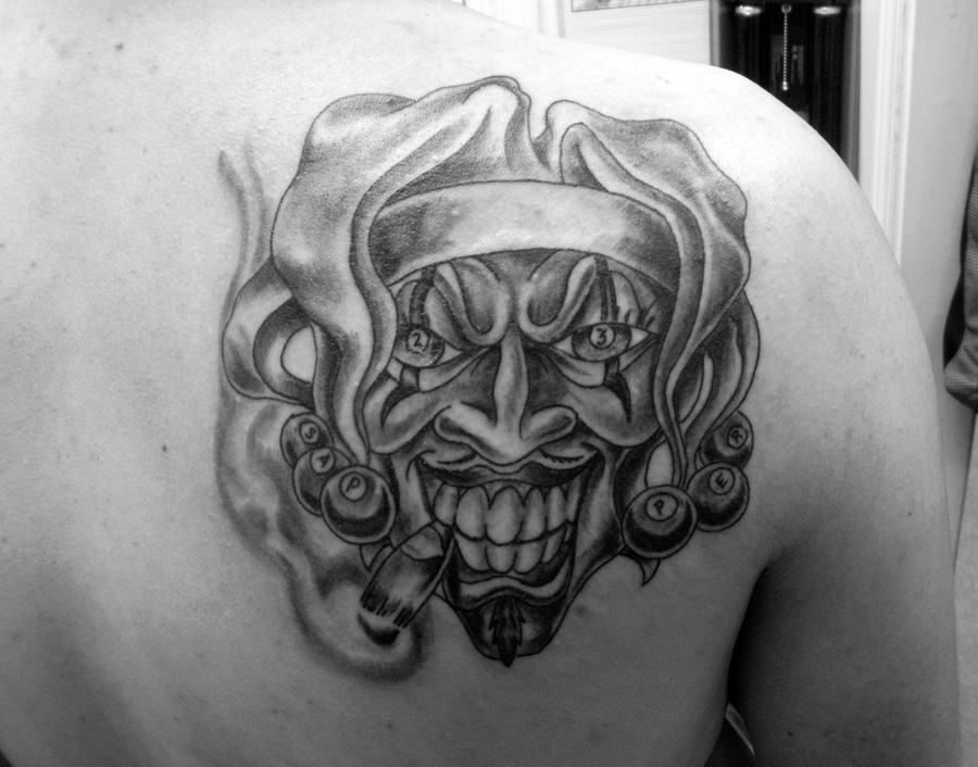 "23rd Sappers ""Joker"" - shoulder tattoo"