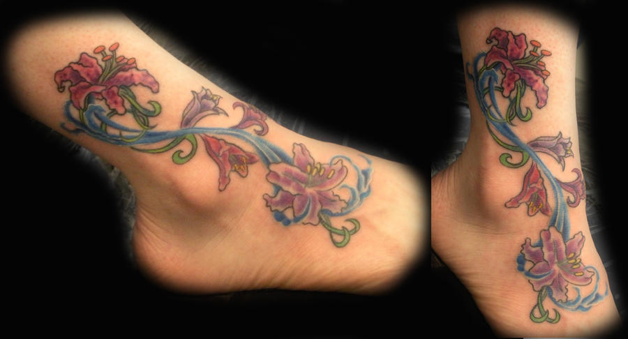 Floral Ankle w/ Water by PainlessJames