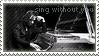 Stamp - Yoshiki I b+w by DieNaerrin