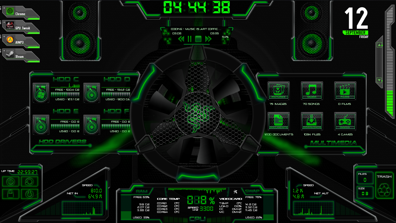ASUS ROG RAINMETER BEST THEME by BigHeadLover on DeviantArt