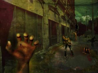 Zombie Neighborhood by ToxieFox