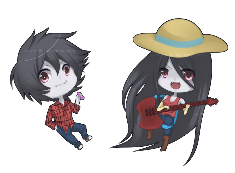 AT: Marshall Lee and Marceline by Tuliblu