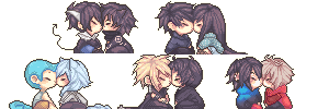 Kissing Icons Commission Batch 2 by Tuliblu