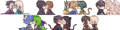 Kissing Icons Comission Batch 5 by Tuliblu