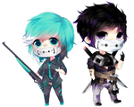 Detailed Chibi Commissions for reoru by Tuliblu