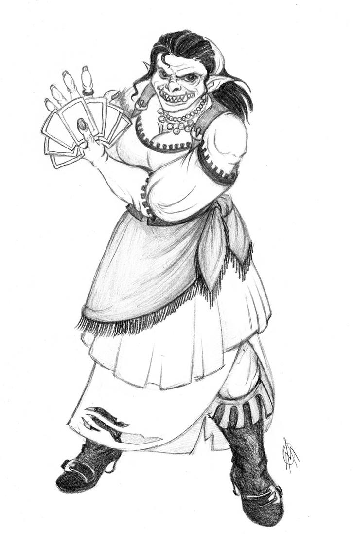 Commission - Orc FortuneTeller by TheWildGrape