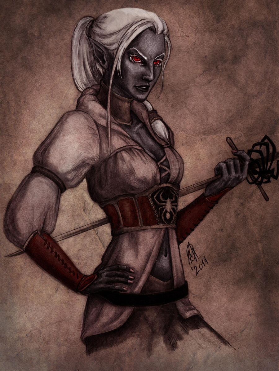 Drow bend by TheWildGrape