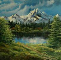 Lake by cheburart