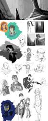 Sketch Dump - August 2013 by Thaximus