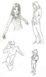 Sketch Dump - February 2014 by Thaximus