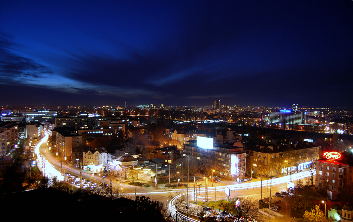 Plovdiv at Night by Nanera