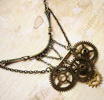 Steampunk Bib Necklace