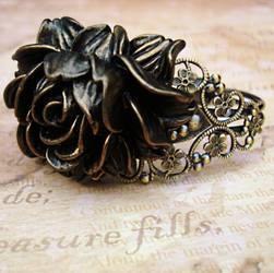 Steampunk Corsage Bracelet by LaOubliette