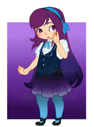 Purple lady adoptable [OPEN]