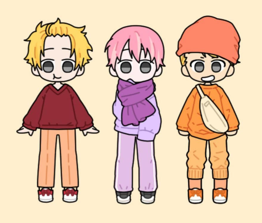 Humanized Winnie the Pooh, Piglet, and Tigger