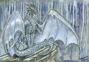Watercolor of rain by Deygira-Blood
