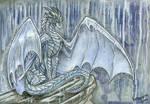 Watercolor of rain