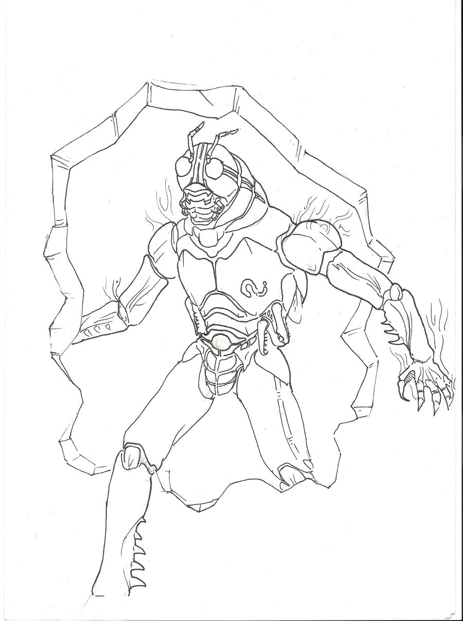 kamen rider coloring pages - photo#38