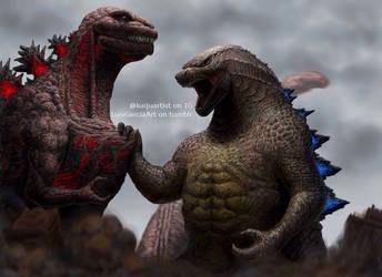 Battle of the Titans by sentinelprime99