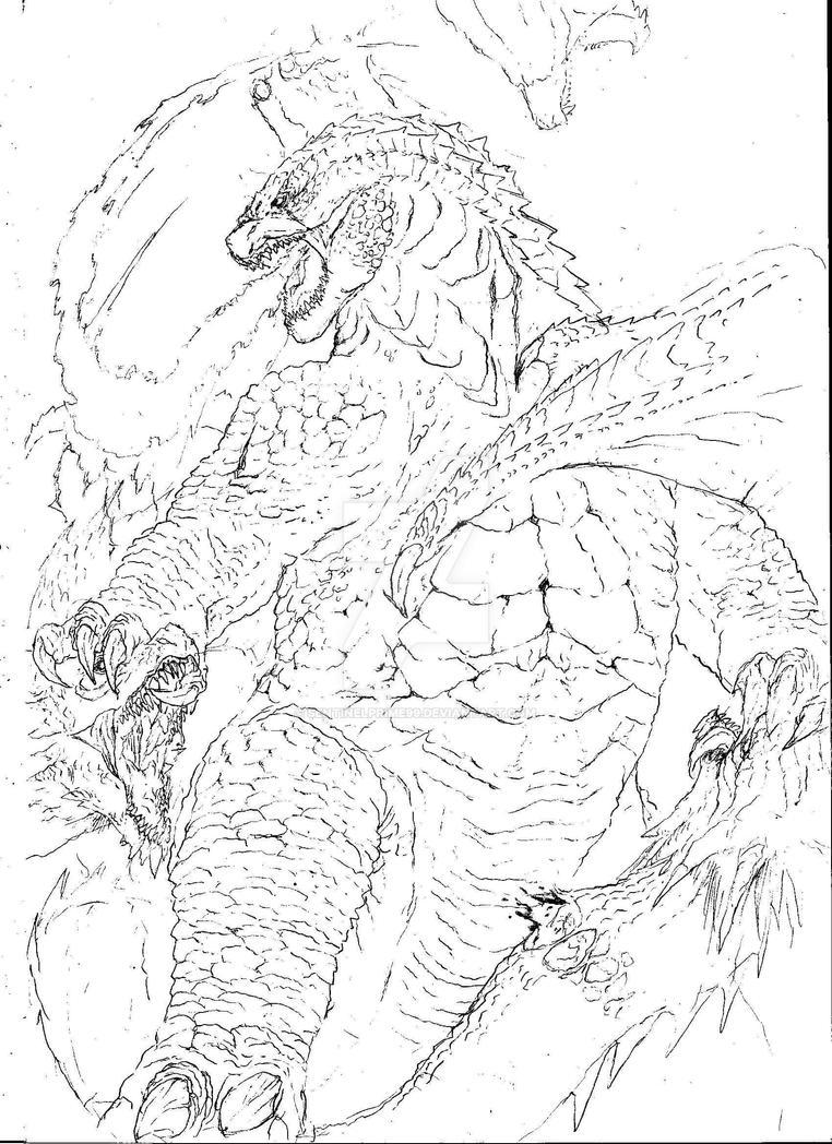 Godzilla vs King Ghidorah Revised. by sentinelprime99