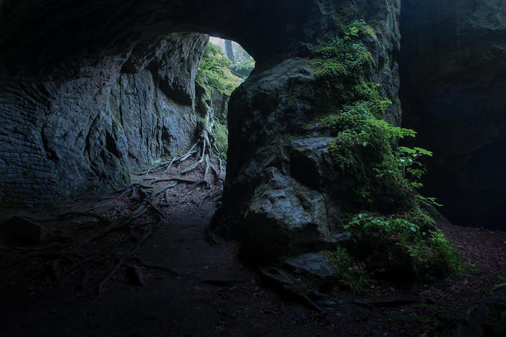 Dark cave opening 01