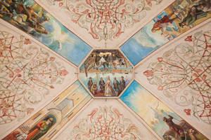 Europapark 045 religious ceiling decoration ornate