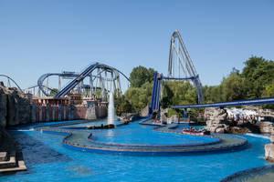 Europapark 049 rollercoaster tracks water boat