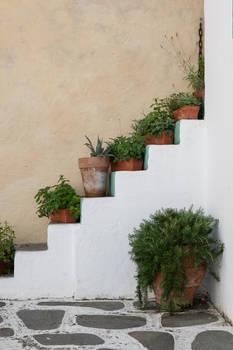 Europapark 055 greece stairs plants