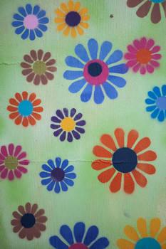 Flower hippie texture