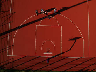 AERIAL VIEW BASKETBALL 01 by ISOStock