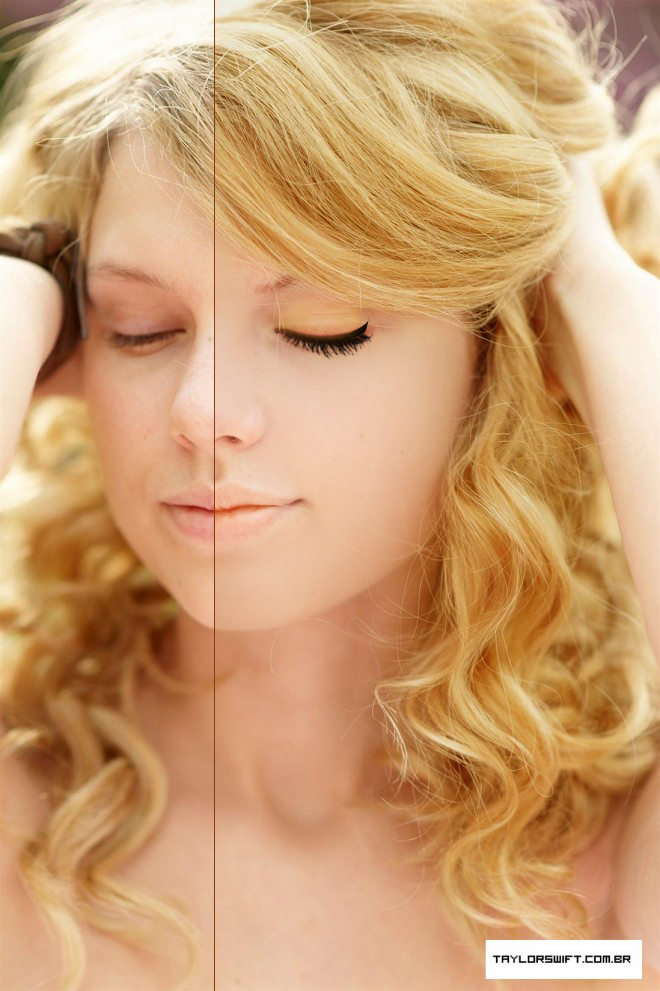 Taylor swift before and after photoshop taylor swift before after 2 by