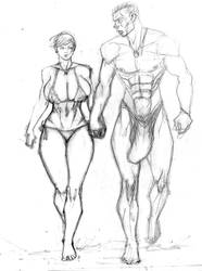 Walk And Talk Sketch by SuperPoser