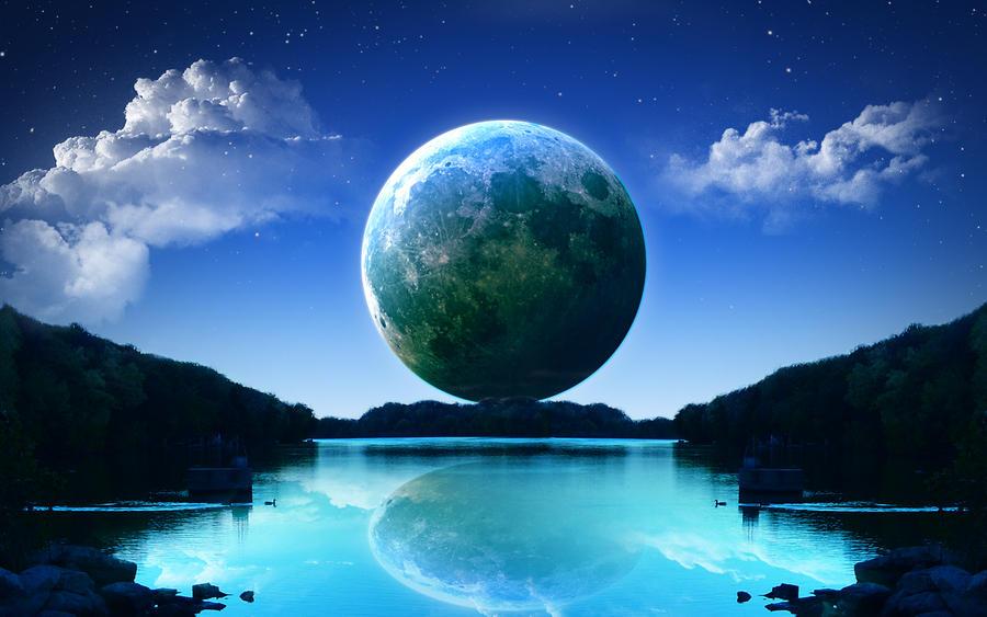 Moonrise Wallpaper by sru