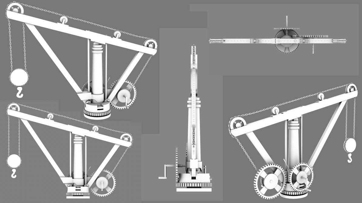 crane 3d model render by Jami-Deni on DeviantArt