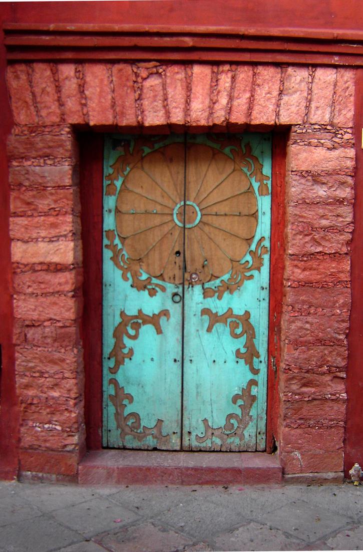 Teal Door Way by lunaverse