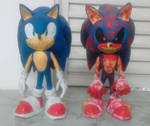 Sonic and Sonic.EXE (Sculpture) by GCGblacknigth