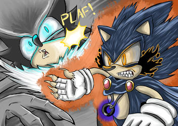 Tainted Sonic vs Zielo - The Supreme Battle. by GCGblacknigth
