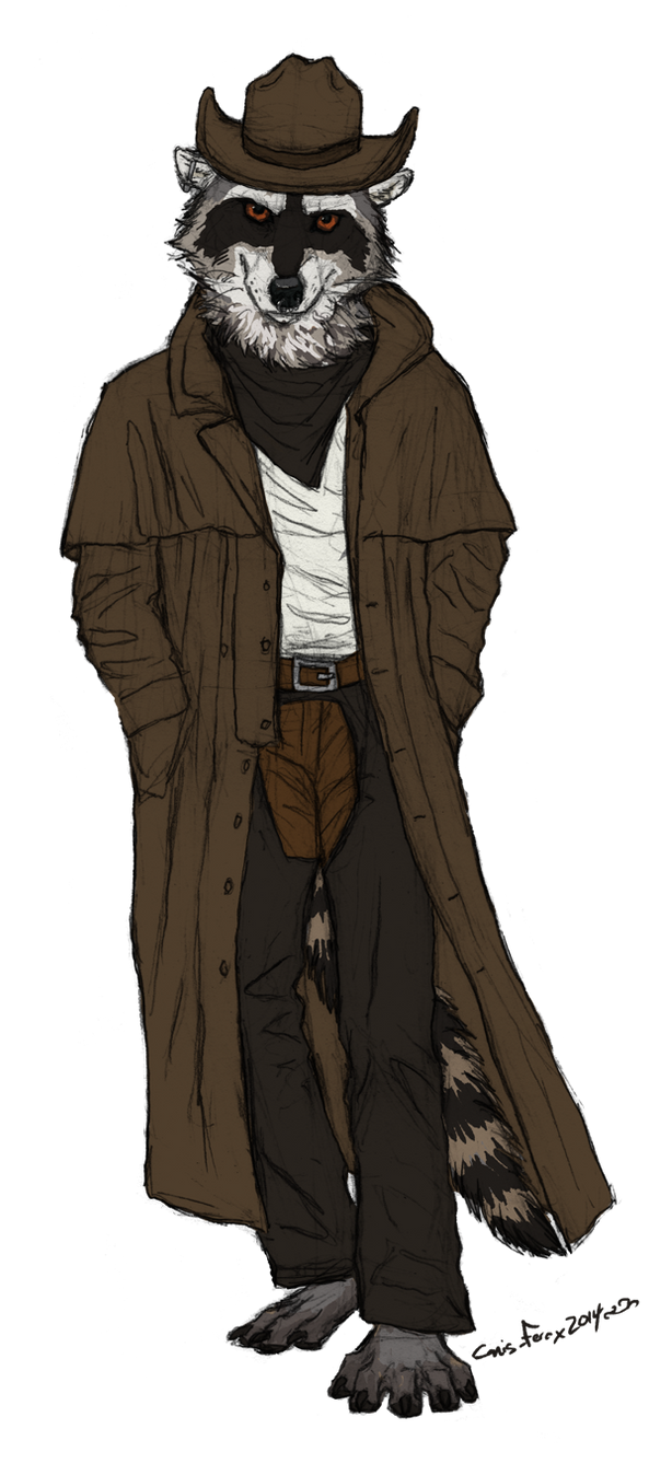wild west raccoon by Canis-ferox