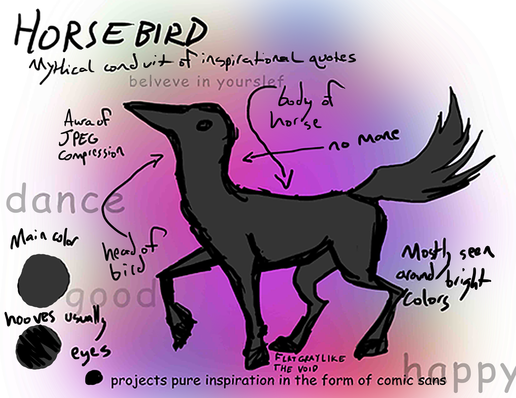 Horsebird Reference by Canis-ferox
