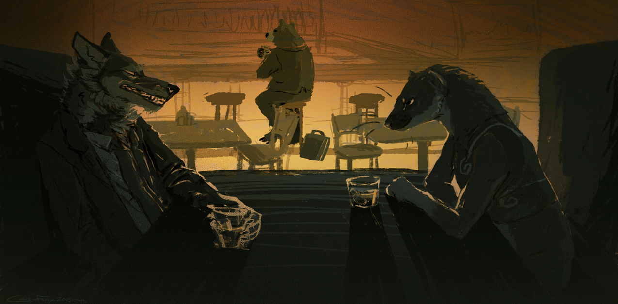 The Meeting (illustration) by Canis-ferox
