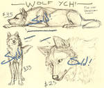 Wolf YCHs 2 (All sold!)