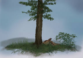 solitude tree by Canis-ferox