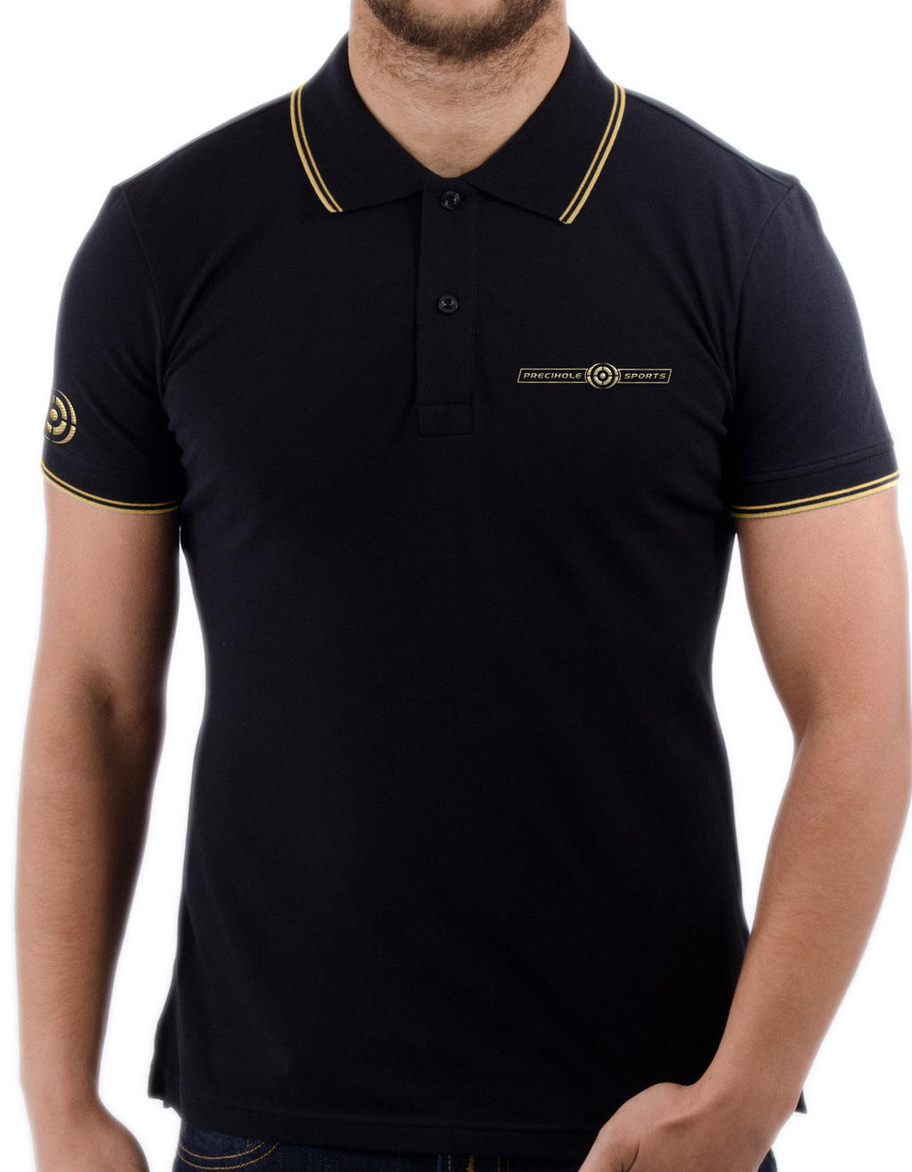 Black t shirt sports -  Precihole Sports T Shirt Design By Gufranshaikh