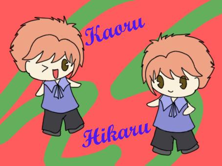 Chibi Hikaru and Kaoru by belle2908 on deviantART  Chibi Hikaru an...