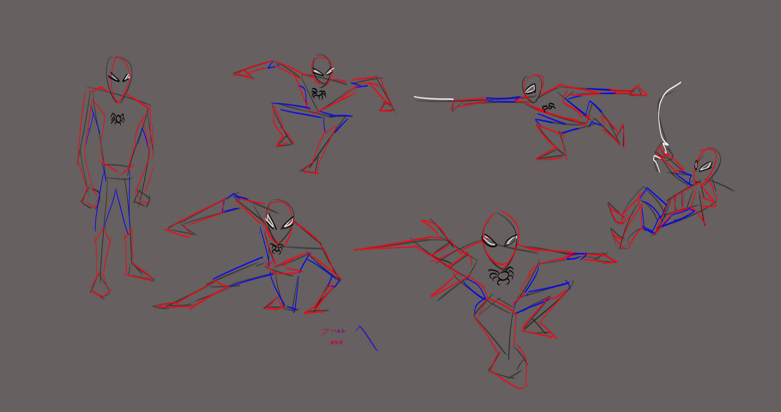 Day 275-Spiderman poses 2 by Dan21Almeida95