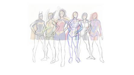 WIP DC Heroines redux by Dan21Almeida95