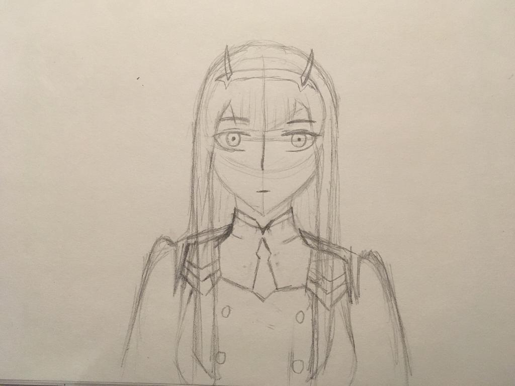 Zero Two sketch by MrDevastation101