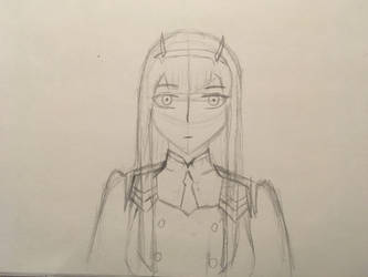 Zero Two sketch by MrDevastation101